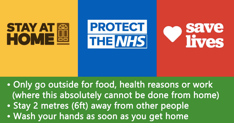 Stay At Home, Stay Safe, Protect The NHS